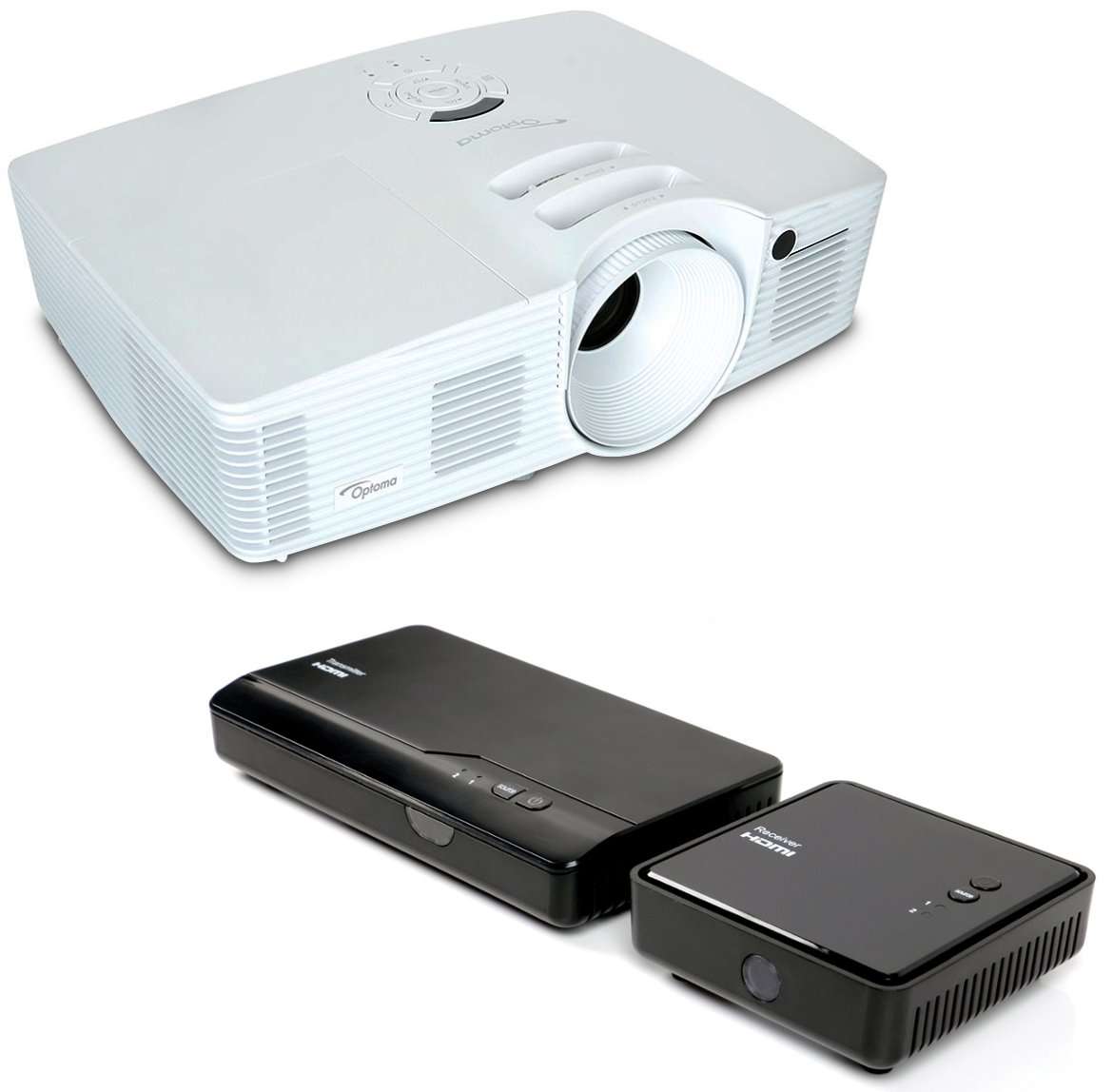 with HD28DSE Projector and WHD200 Wireless HDMI Transmitter/Receiver Set