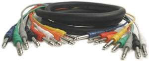 "8-Channel Audio Snake, Unbalanced 1/4"" Male to 1/4"" Male, 6.6 Feet"