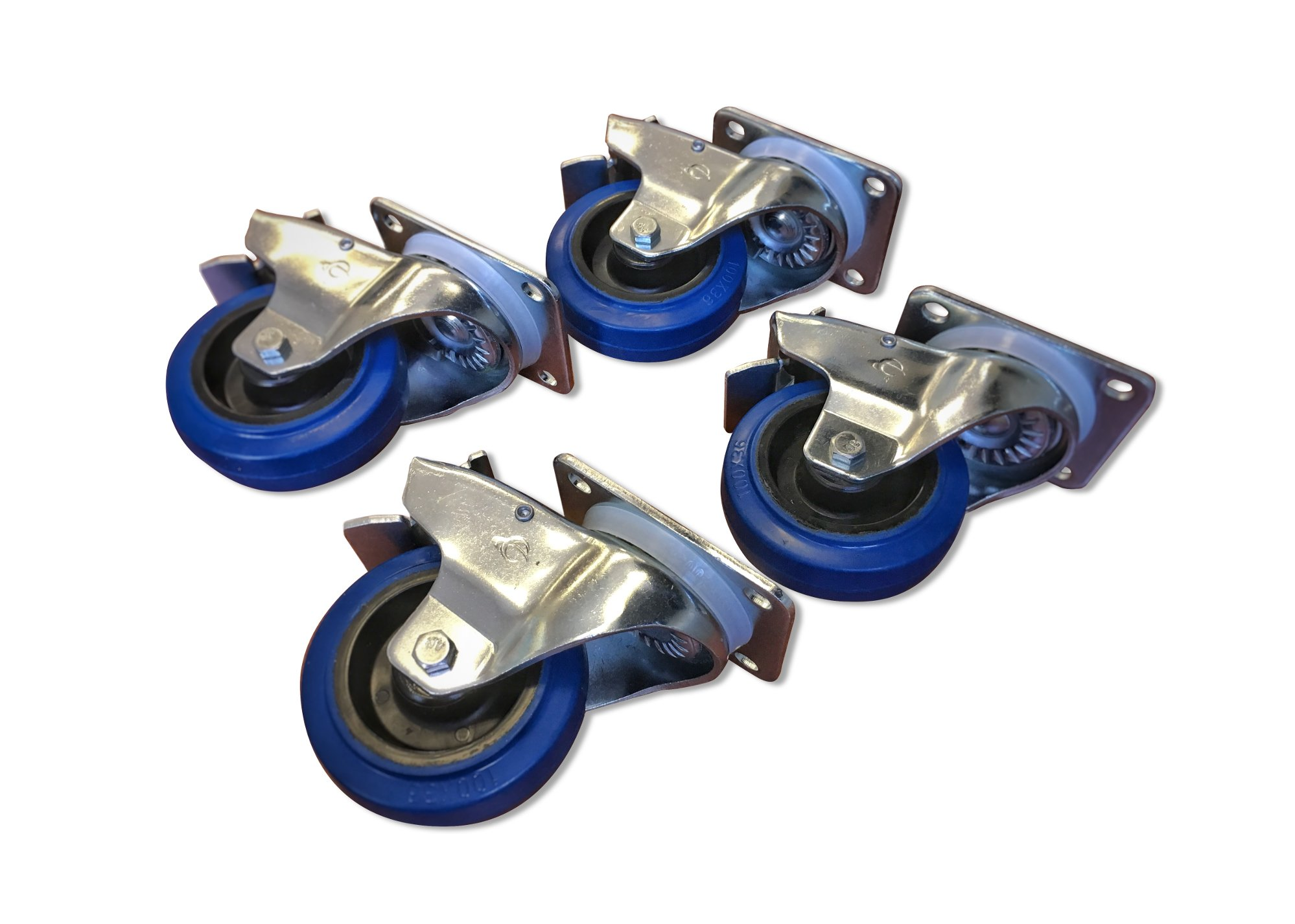 Wheel Kit with 4 Locking Casters