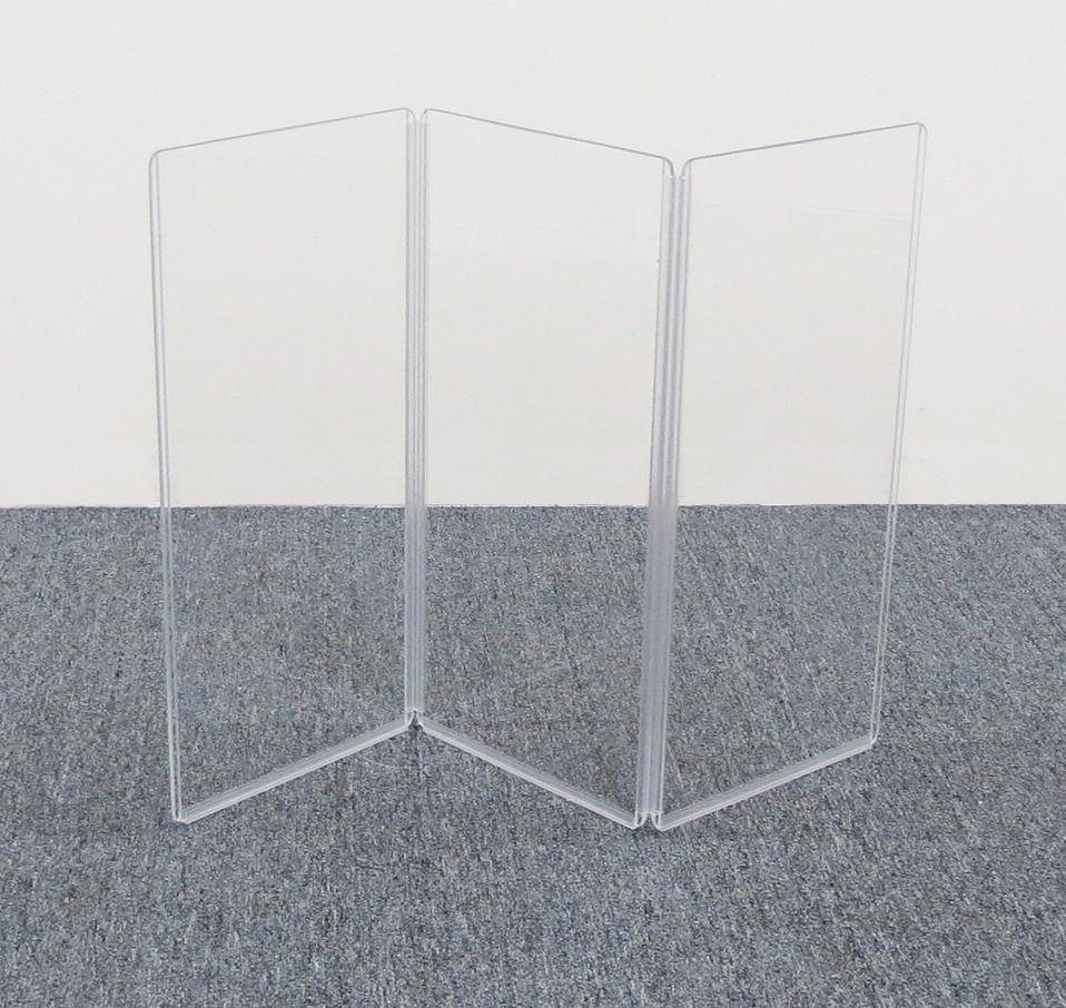 "36"" x 24"" 3-Section Clear Acoustic Isolation Panel"