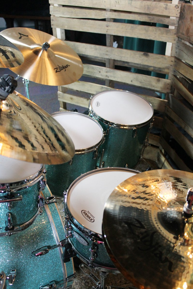 6-Piece Music City Custom MRV Shells with Turquoise Glass Finish