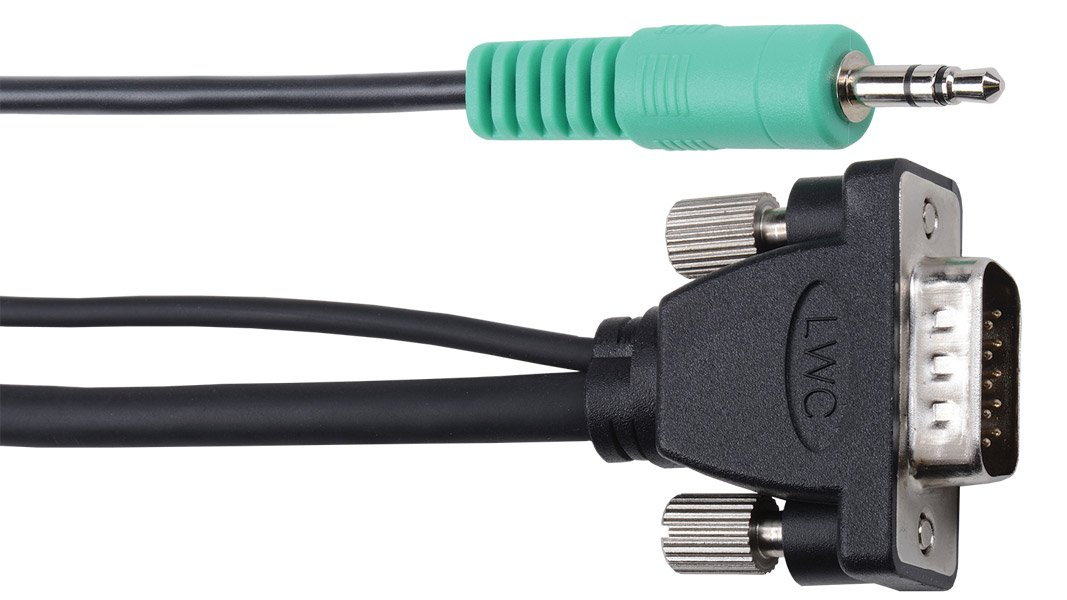 Micro VGA Cable with Companion 3.5mm Stereo Audio, 15 ft