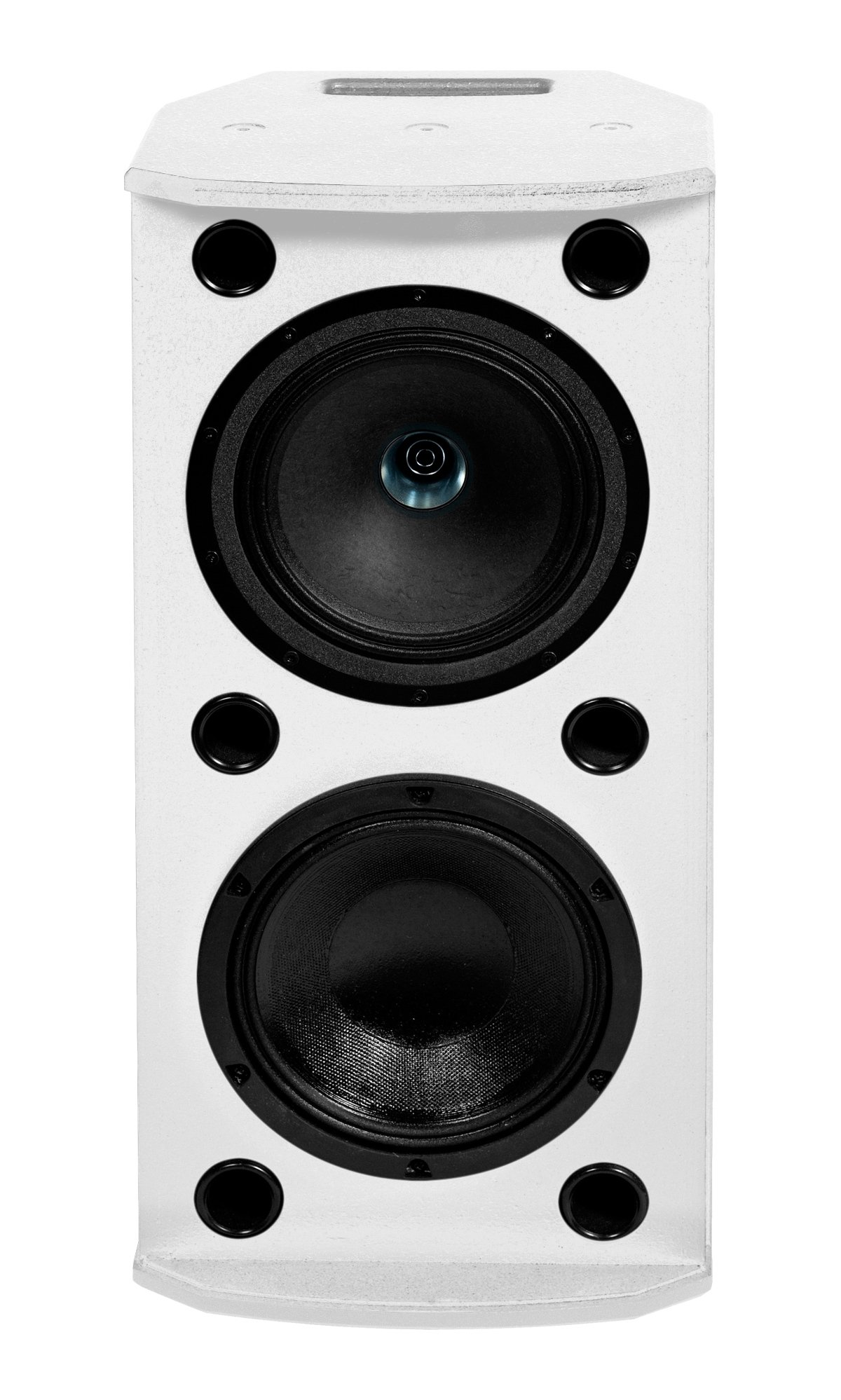 "1000W 8"" Dual Concentric Powered Loudspeaker, White"