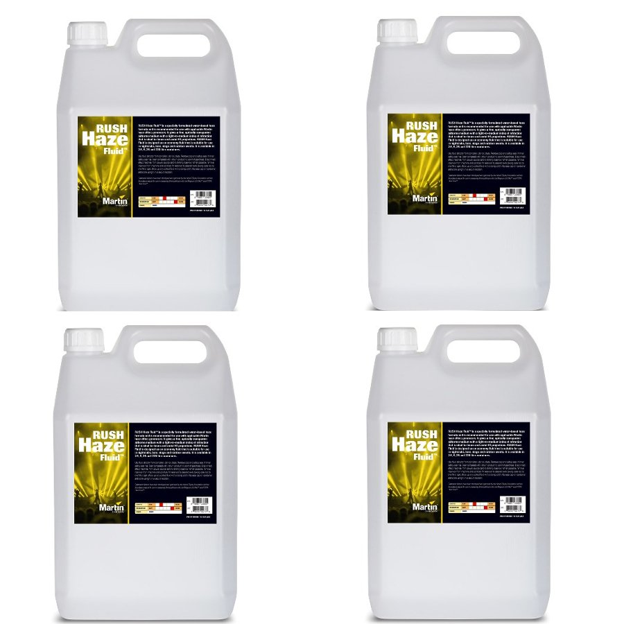 4-pack of 2.5L RUSH Haze Fluid