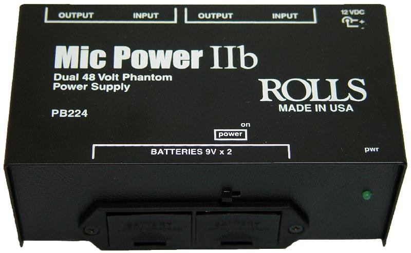 Dual Phantom Power Supply, with Battery
