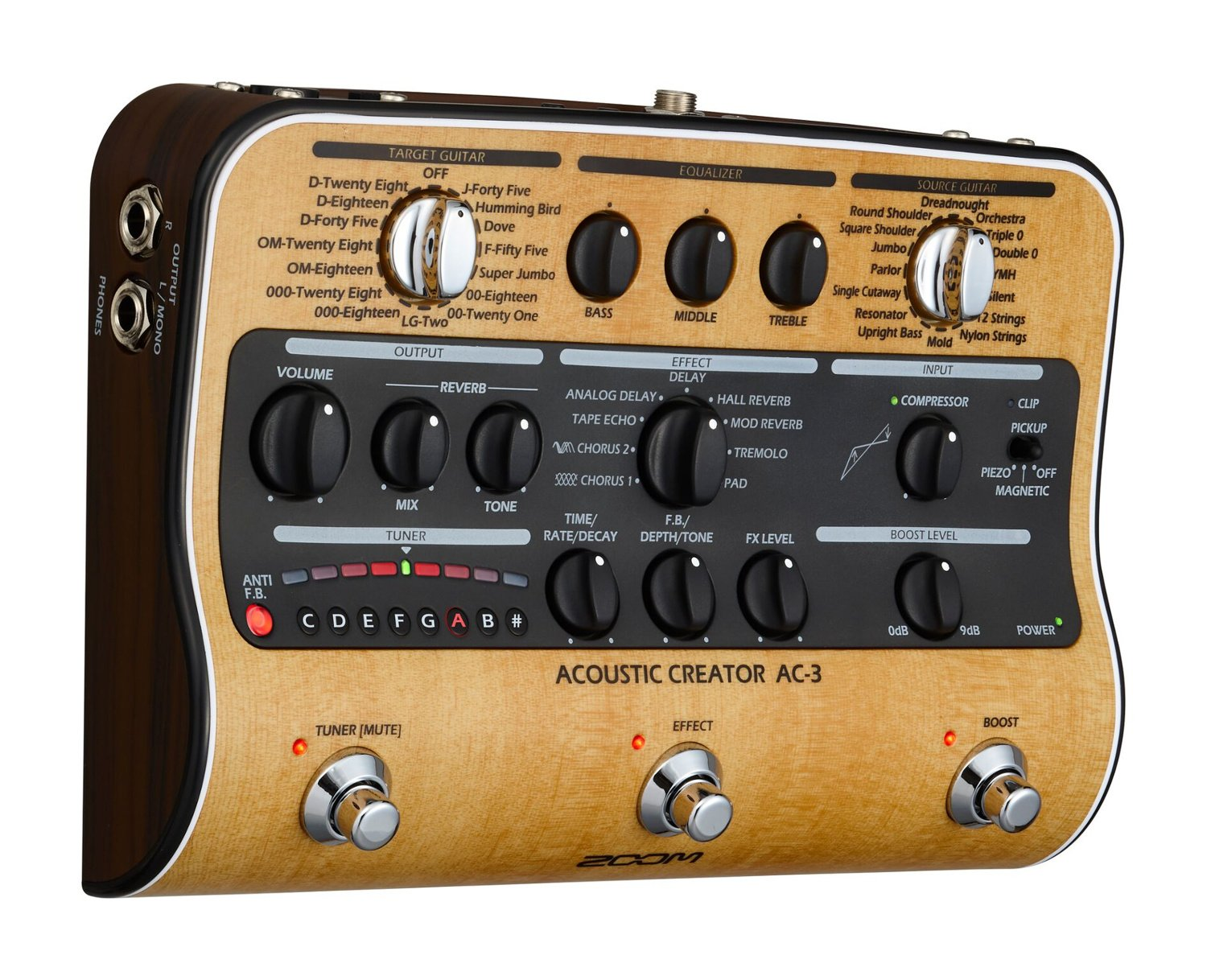 Acoustic Creator Preamp Pedal with Effects