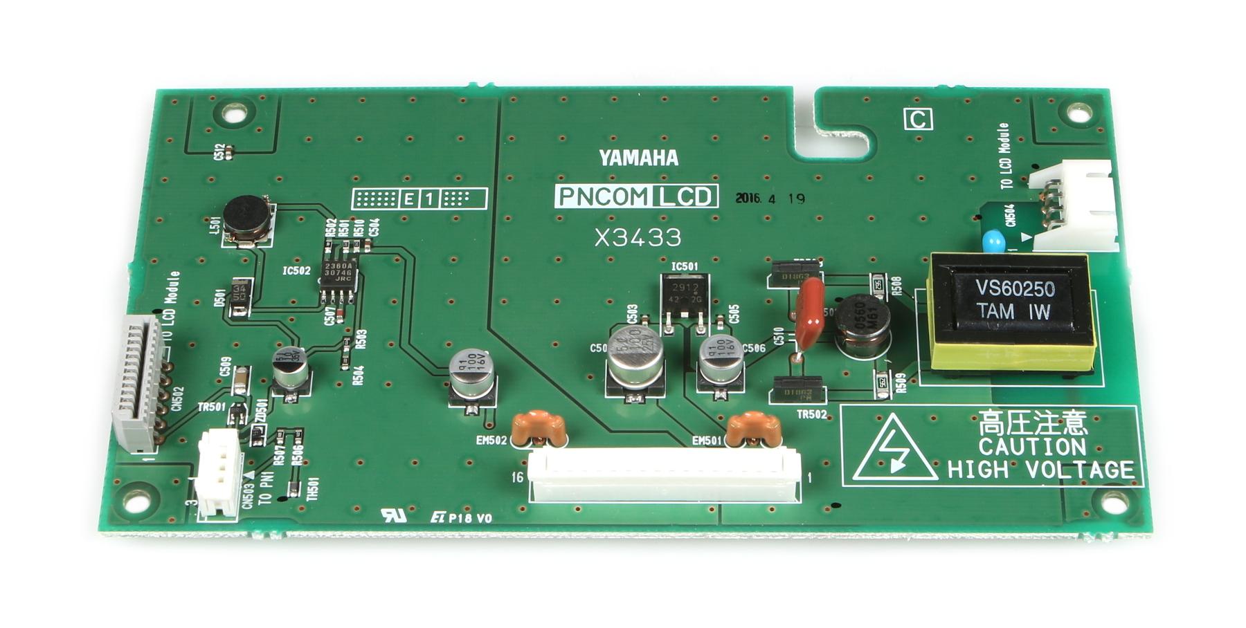 Yamaha V9900601 DM1000 LCD PCB V9900601