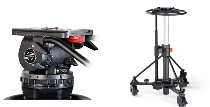Sachtler 2580  Video 25 Plus FB Fluid Head (2501P) + Combi Ped 1-40 (5199) 2580