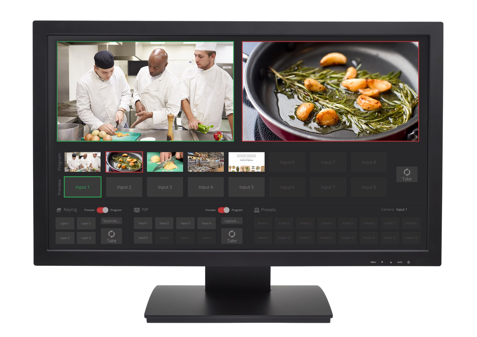 "27"" USB Touch-Screen Multiviewer"