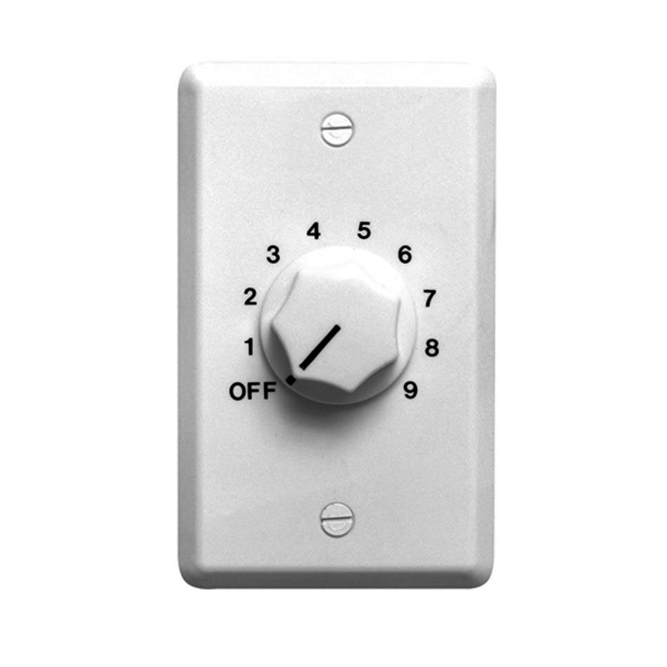 10W Speaker Wall Plate Volume Control in White