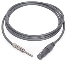 "Microphone Cable, Unbalanced 1/4"" Male to XLR Female, 10 Feet"