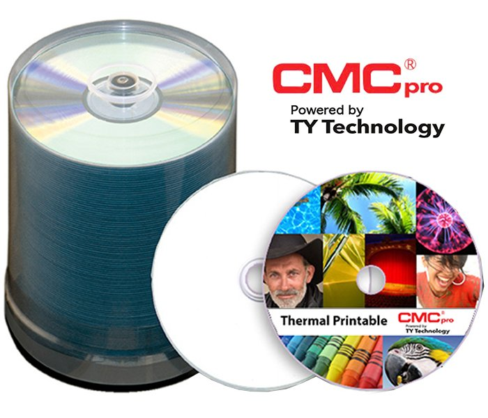 100-Disc Spindle of 48X White Thermal Printable (Prism Only) CD-R