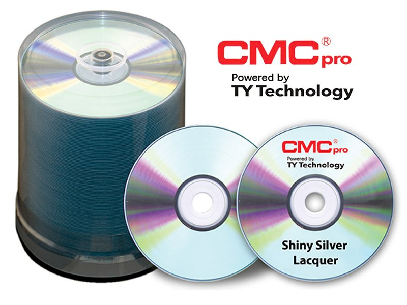 100-Disc Cakebox of 48X Shiny Silver Lacquer Printable CD-R