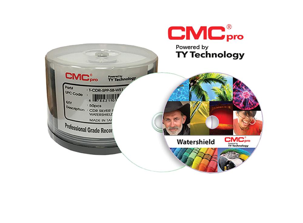 "16x White Inkjet Printable, ""Water Shield"", 50-Disc Cakebox"
