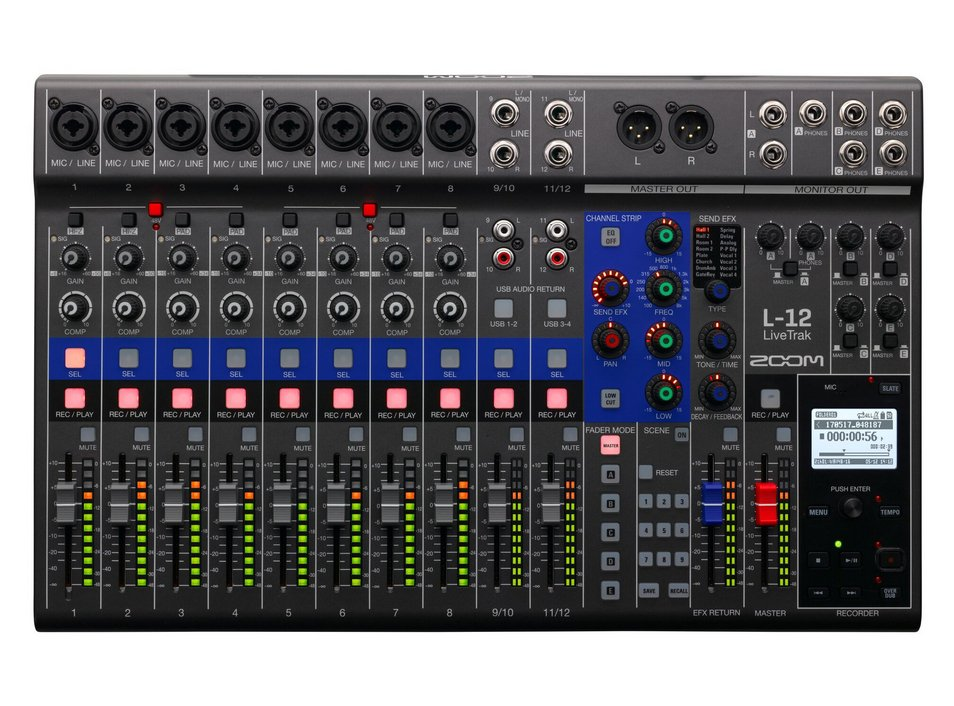 Digital Mixer/Recorder, 12 Channels