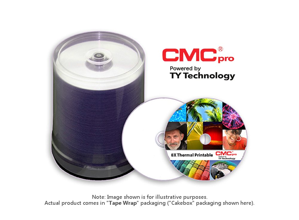 8X DVD-R, 4.7GB, White EVEREST Thermal (Hub Printable), 100-Disc Tape Wrap