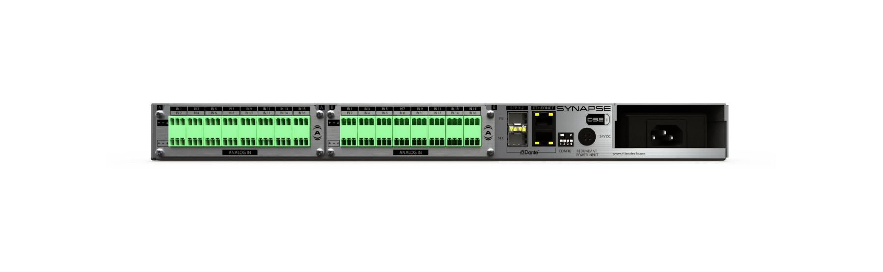Synapse D32i [Terminal Block] 32-Channel Dante/AES67
