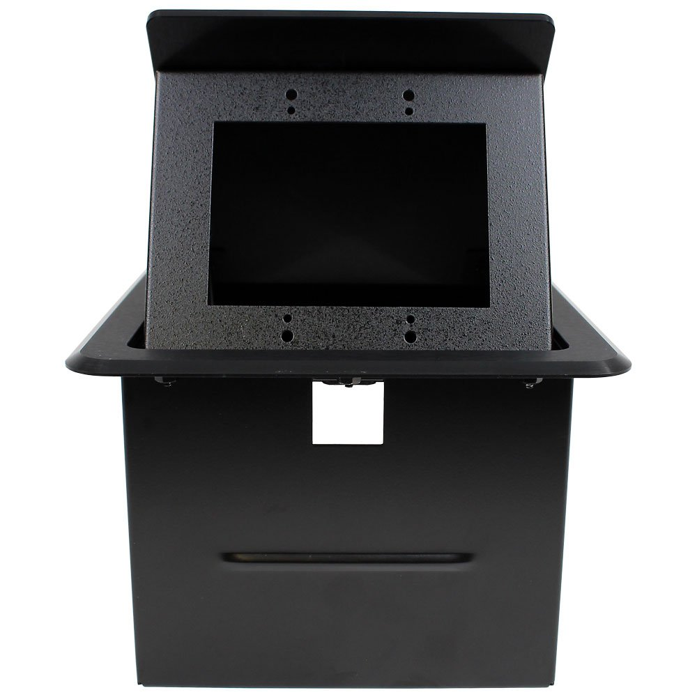 "FSR, Inc TB-2G  Large 2-Gang ""Tilt 'N Select"" Table Box, Black TB-2G"