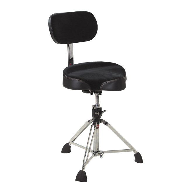Motorcycle Seat-Style Drum Throne with Backrest