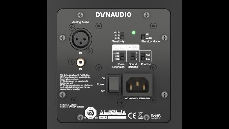 """Nearfield Monitor with 8"""" Woofer, 50W + 80W (black)"""