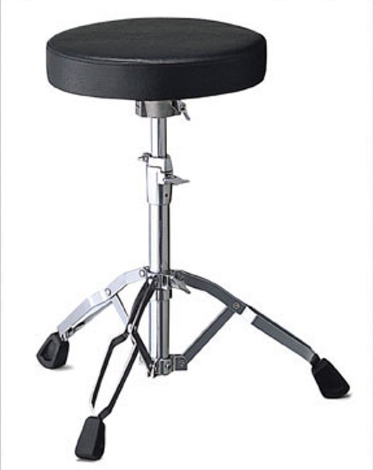 Drum Throne with Vinyl-Covered Round Cushion
