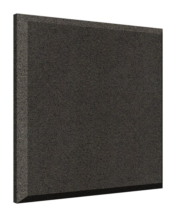 "(1) 2' x 2' Wall ProPanel with Ebony Fabric, Beveled Edge, 2"" Thick"