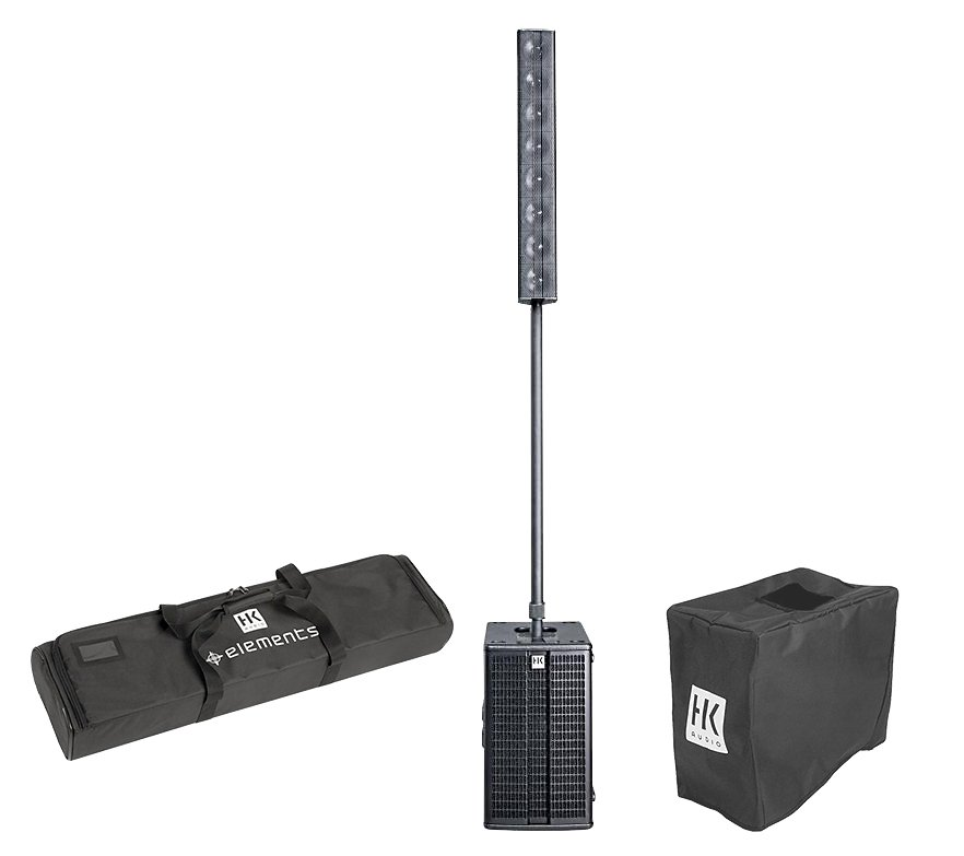 Portable PA, Line Base Bundle with Cover and Case