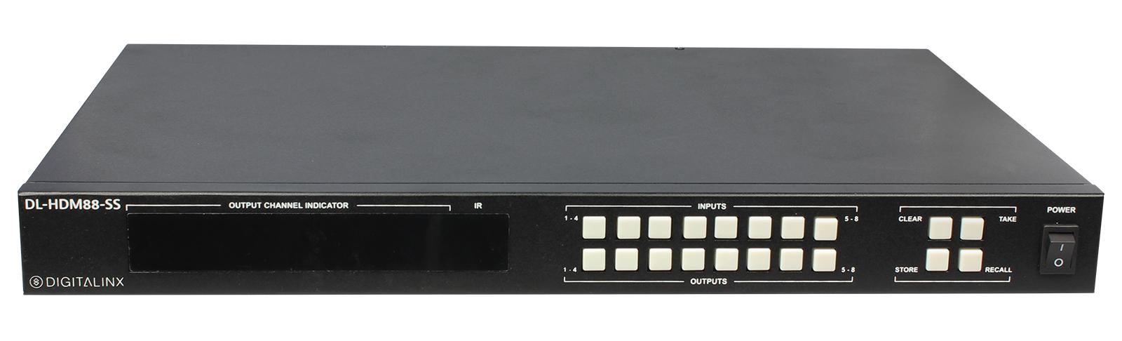 8x8 HDMI Matrix HDMI 2.0, 4K60 4:4:4, HDCP 2.2 Compliant