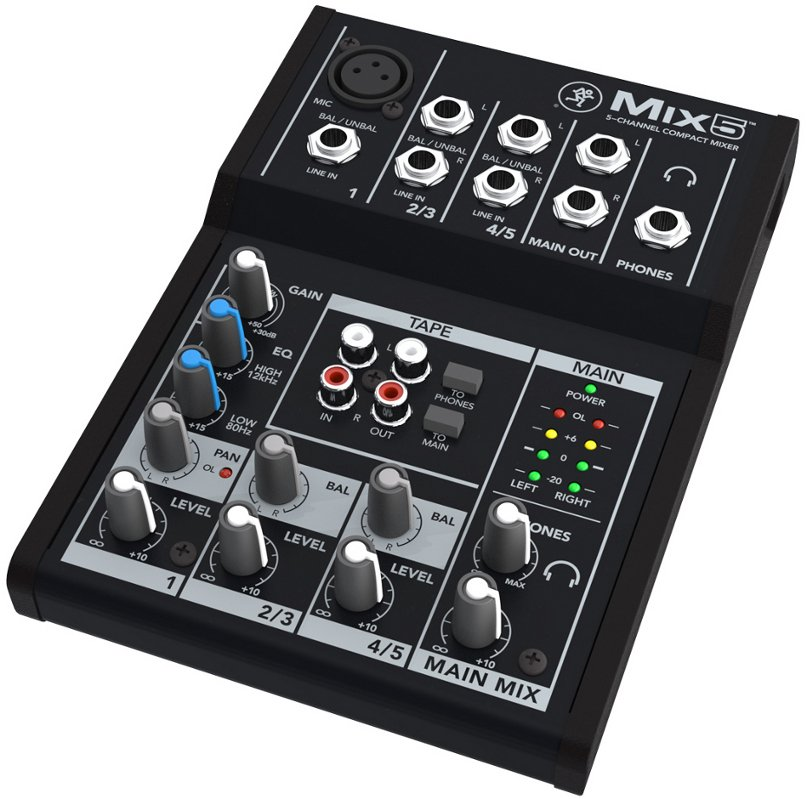 5 Channel Compact Mixer