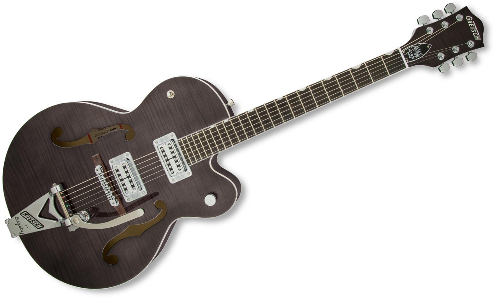 Gretsch Guitars G6120SH-TBLK [DISPLAY MODEL] Brian Setzer Hot Rod Hollow Body Electric Guitar, Tuxedo Black G6120SH-TBLK-DIS