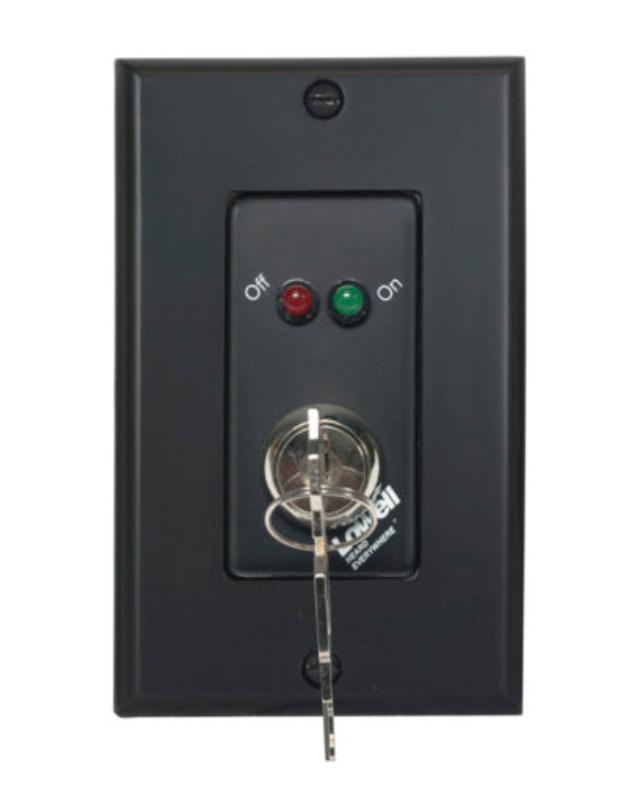 Lowell RPSB2-MKP [RESTOCK ITEM] Momentary Closure Switch, 1-Gang, Black RPSB2-MKP-RST-01