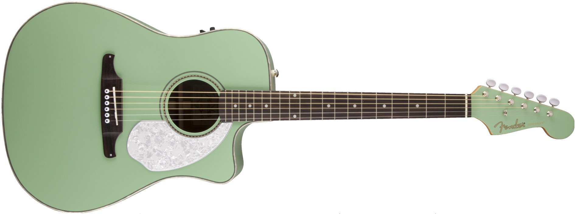 Surf Green California Series Dreadnought Cutaway Acoustic/Electric Guitar with Fishman Isys III Electronics