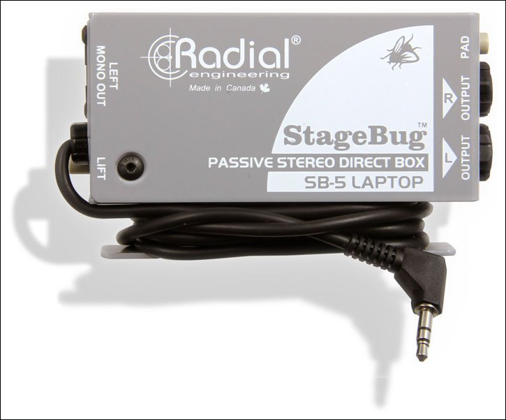Compact Stereo DI for Laptop Computers