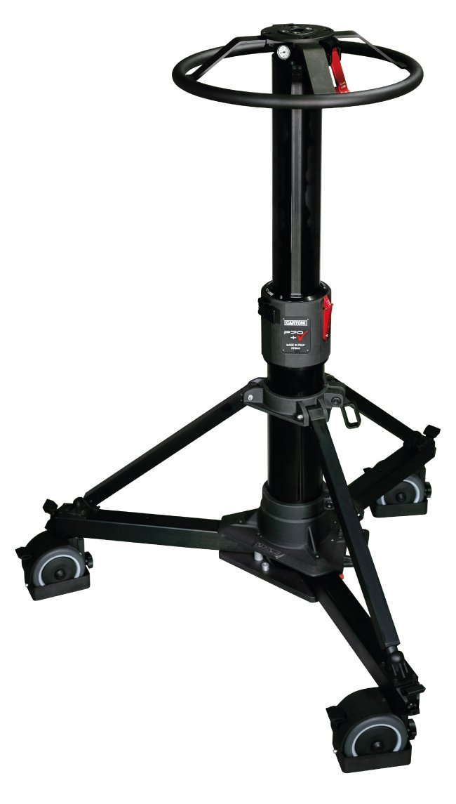 P70+ Pedestal with Focus 22 Head, (2) Pan Bars, Flat Base Adapter and Pump