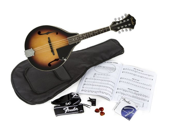 Mandolin with Rosewood Fingerboard, Sunburst Finish, and Accessories