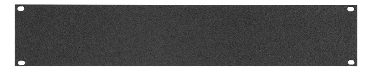2RU Blank Aluminum Flat Panel, Black Wrinkle Finish