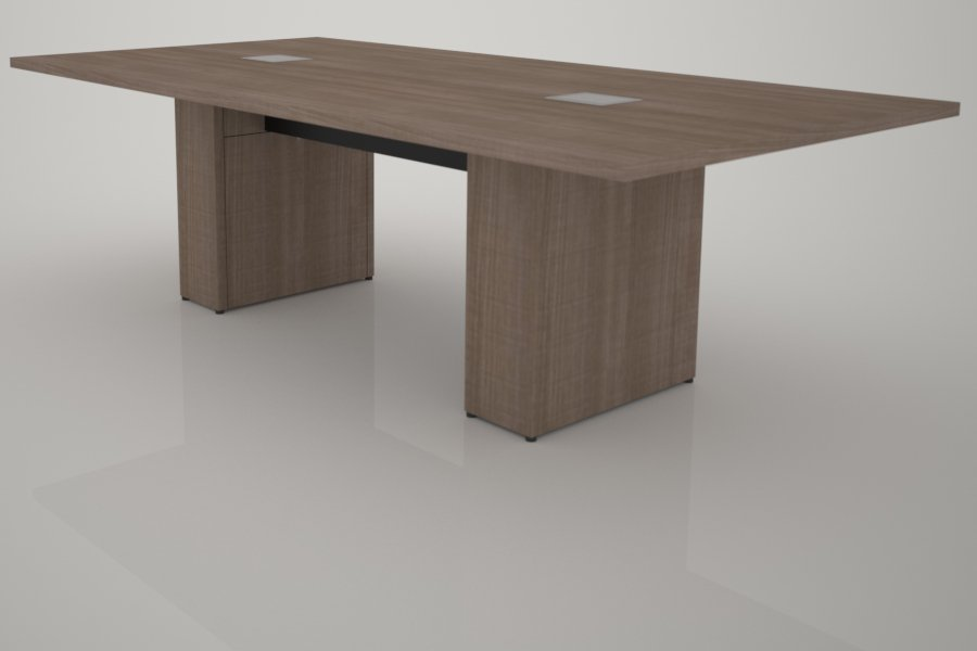 8 ft Sota Style Table with 5th Ave Elm HPL Finish, (2) Support Pedestals, Tech Kit