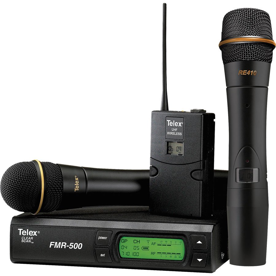Telex FMR500H/L-A [RESTOCK ITEM] Handheld & Bodypack Combo Wireless System, A-Band FMR500H/L-A-RST-01