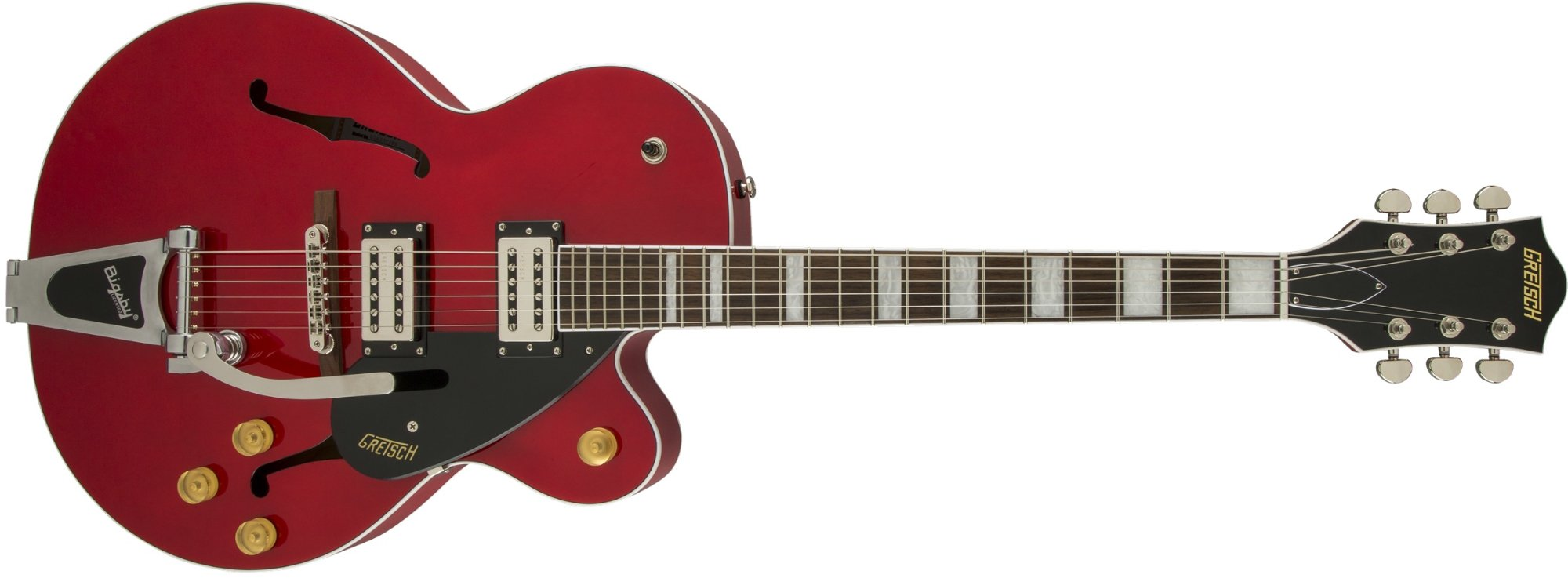 Streamliner Series Single Cutaway Hollow Body HH Electric Guitar with Bigsby