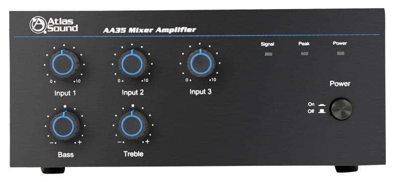 3 Channel 35W Mixer / Power Amplifier
