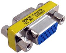 VGA Coupler, 15-pin Female to 15-pin Female