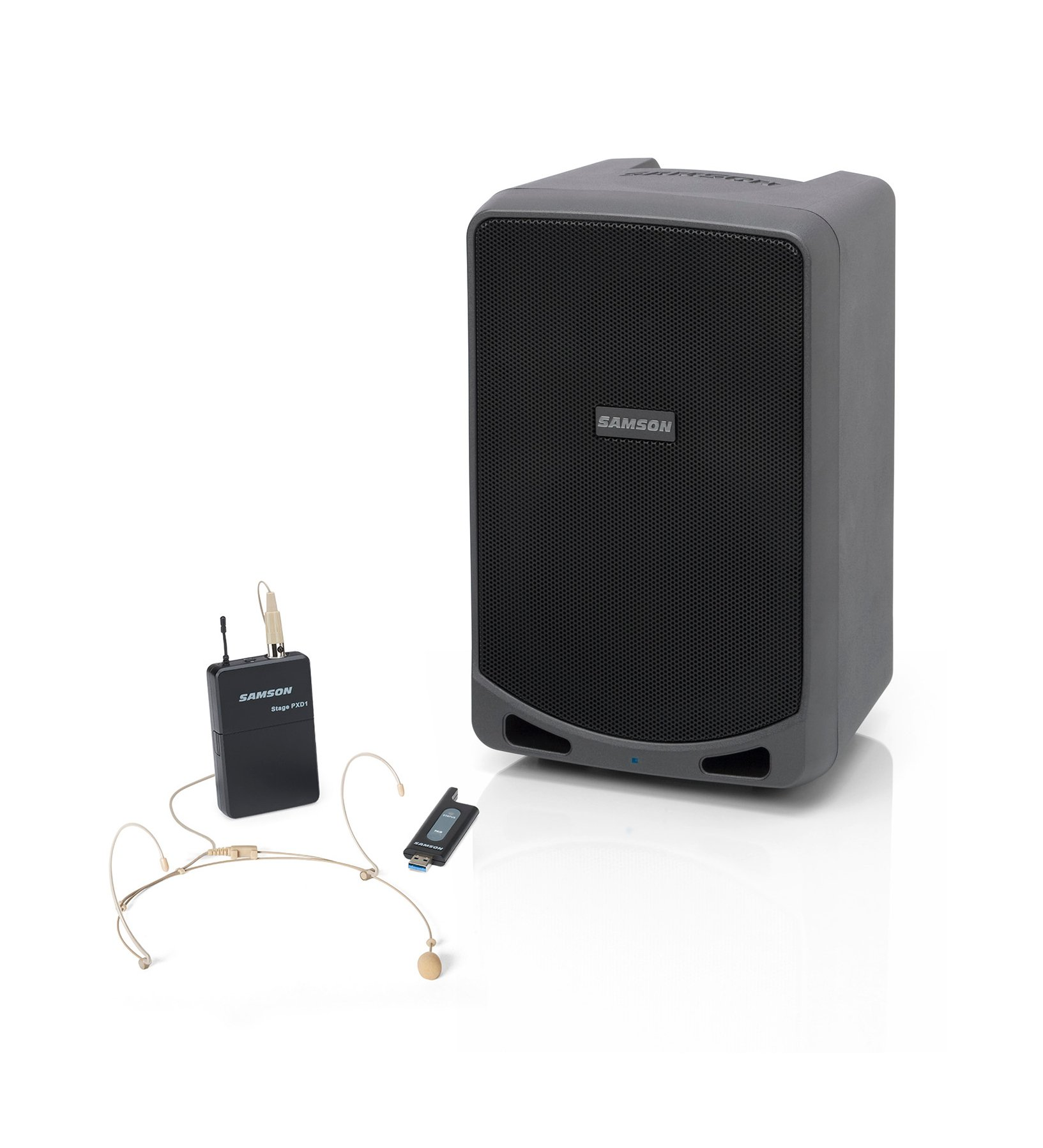 100 W Portable PA with Headset Mic and Bluetooth
