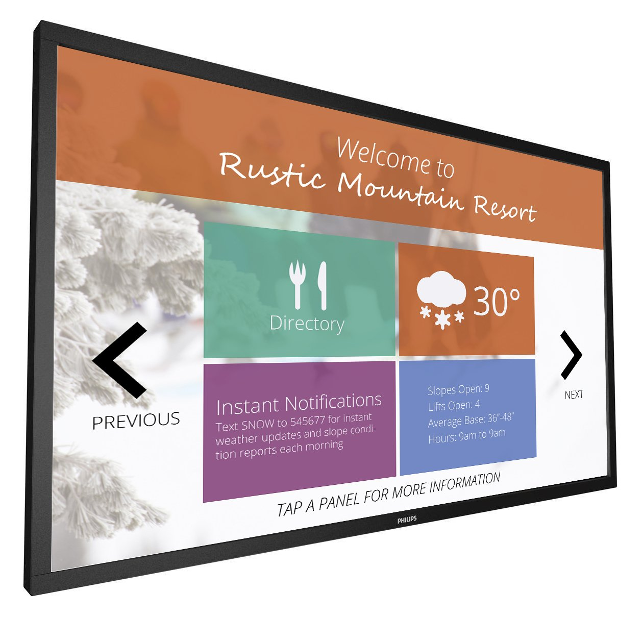 """Philips Commercial 32BDL4050TT 32"""" 400nits 6-pt IR T-Line Integrated Touch Display 32BDL4050TT"""