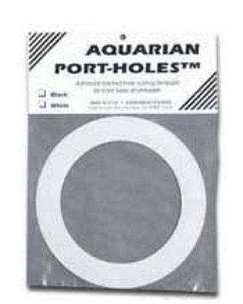 """White 5"""" Port Hole Template for Kick Drum"""