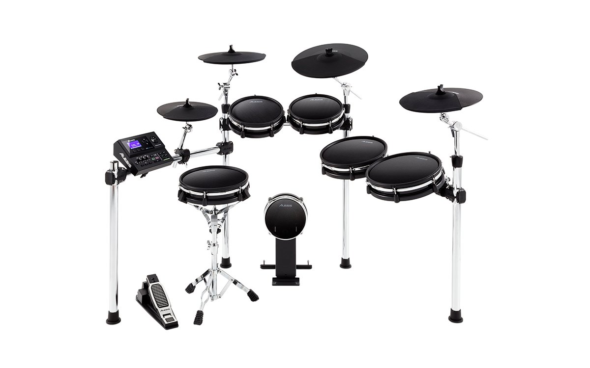 Ten-Piece Electronic Drum Kit with Mesh Heads