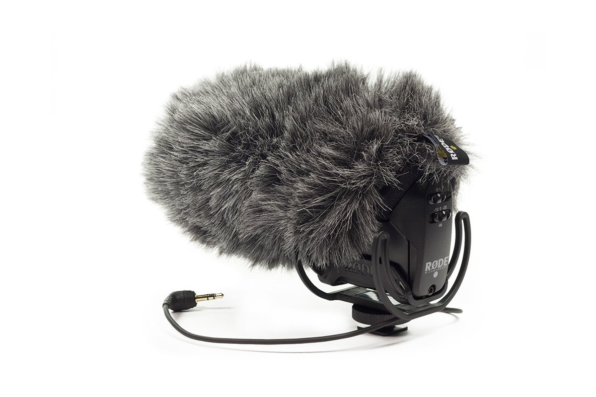 Stereo On-Camera Mic with Rycote Lyre Shock Mount plus Deadcat VMPR