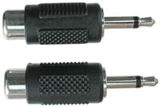 "Audio Adapter, RCA Female to Mono 1/8"" Male (Pack of 2)"