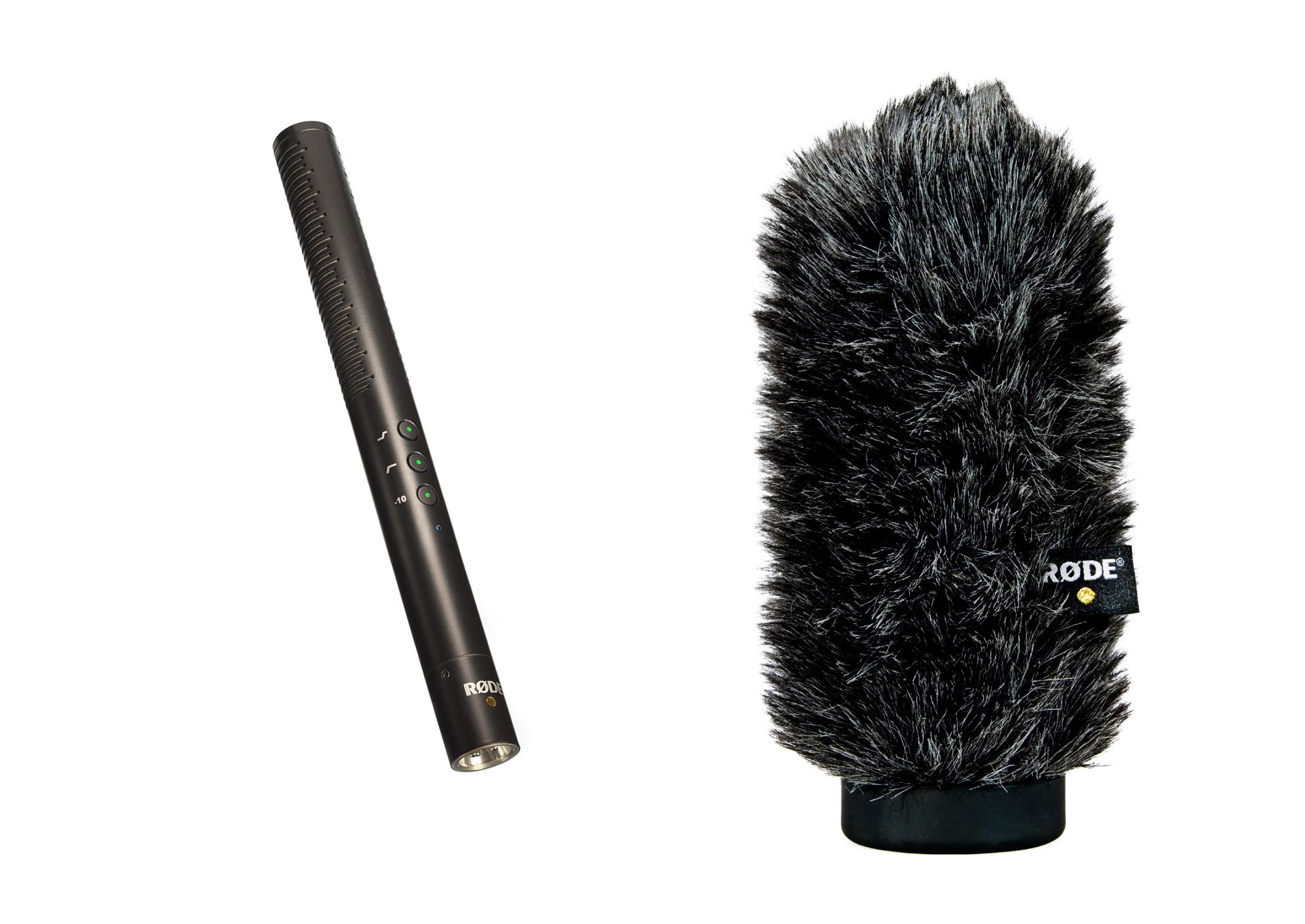 Condenser Shotgun Microphone Package with WS6 Windshield