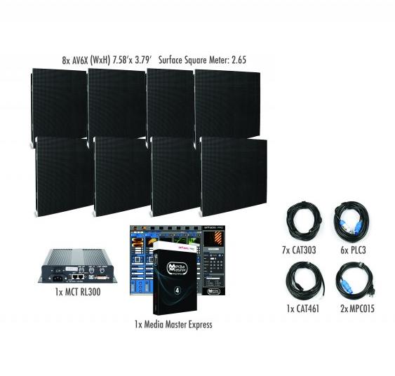 ADJ AV6X-IS-4x2 4x2 AV6X Video Wall Package for Permanent Installation AV6X-IS-4x2