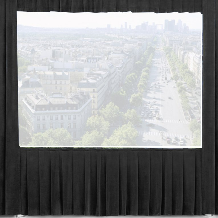 8.5 ft x 11 ft Black Ultra Velour Drape for Fast-Fold Deluxe Frames